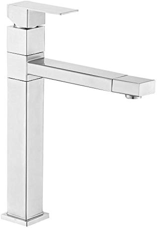 Qpw Edelstahl Badezimmer Schrank Becken Art Becken heien und kalten Wasserhahn Küche waschen Gemüse Becken Mischventil