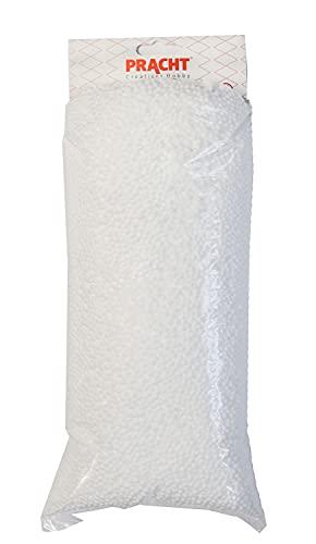 pracht creatives hobby gmbh Relleno de Bolas 3 mm de Espuma de poliestireno, Color Blanco, en Bolsa de 300 g, Ideal para Rellenar Cojines, Peluches y muñecas