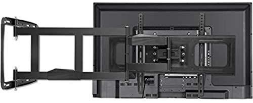 Alysays Soporte de pared para TV de 32 a 80 canales de televisión giratorio, 4 brazos largos, 100 kg de carga, color negro, tamaño: 32 65' 750 mm