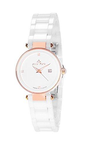 Stella Maris Damen Analog Quarz Uhr mit Keramik Armband STM17H7