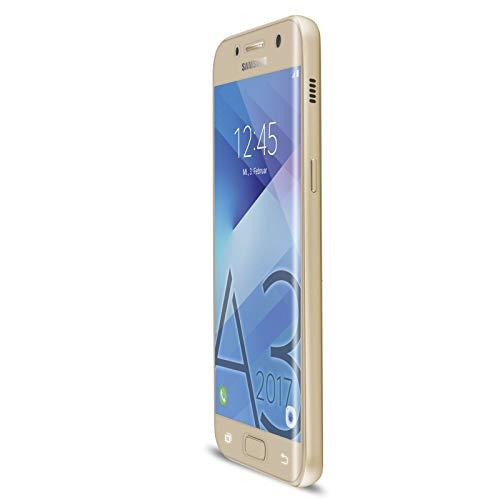 Artwizz CurvedDisplay Sicherheitsglas für Samsung Galaxy A3 (2017) - vollflächiger Displayschutz mit Anti-Splitterschutz - Bildschirmschutz H9 designed in Berlin - Gold - 4409-2074