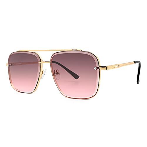 shandianniao Gafas de Sol Moda para Hombres Six Estilo Color Gafas de Sol Gafas de Sol Frescas Vintage Vintage Gafas de Sol UV400 (Color : A)