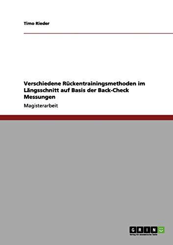 Verschiedene Rckentrainingsmethoden im Lngsschnitt auf Basis der Back-Check Messungen
