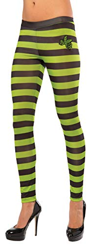 Rubie's Women's Wizard Of Oz Wicked Witch Of The West Leggings, Black/Green, One Size