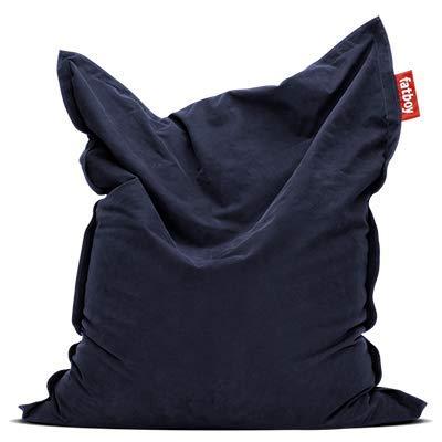 Fatboy® Original Stonewashed dunkelblau Sitzsack | Klassischer Indoor Beanbag aus Baumwolle, Sitzkissen | 180 x 140 cm