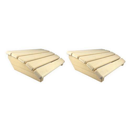 Preisvergleich Produktbild SudoreWell® 2 x Sauna Kopfstütze Premium abgerundet aus hochwertigem Abachiholz