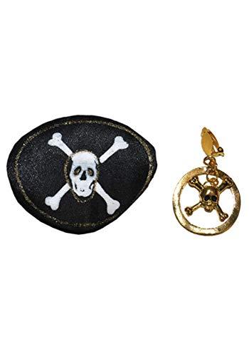 Oogklep en oorbel piraat, 2-delig