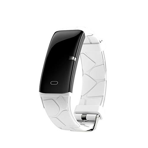 YNLRY Reloj inteligente para hombre Ip67 medición de la presión arterial podómetro banda inteligente impermeable para mujer smartwatch Fitness Track (color solo reloj blanco)