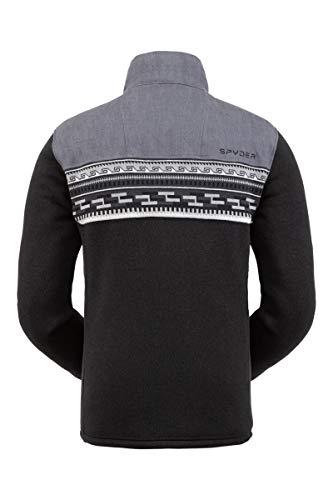 Spyder Men's Wyre Fleece Jacket – Full Zip Sweater Black