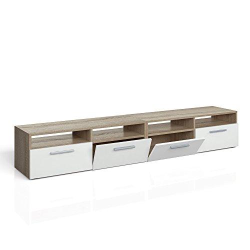 Lowboard Diego - Fernsehtisch Sideboard Fernsehschrank TV-Board Schrank (190cm, Eiche Sonoma)