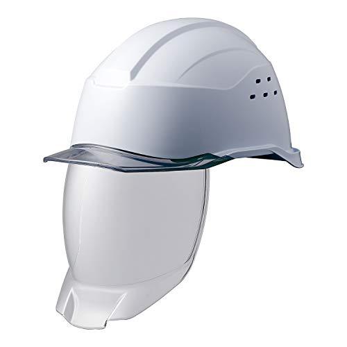 ミドリ安全 ヘルメット 作業用 PC製 シールド面 クリアバイザー 通気孔付 SC21PCLVS RA3 KP付 侍II ホワイト スモーク
