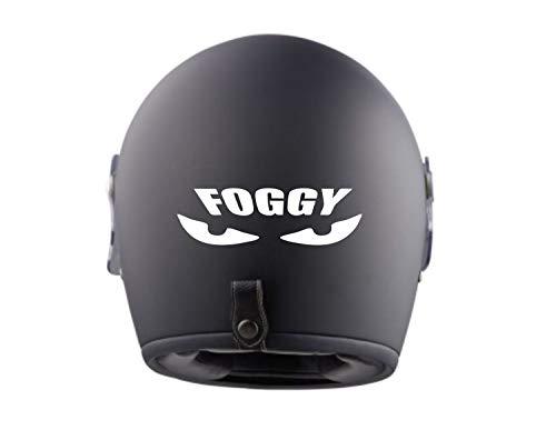 myrockshirt 2X Ducati Foggy Eyes Helmaufkleber Helm Motorrad Aufkleber Sticker Decal Profi-Qualität ohne Hintergrund Bike Tuning