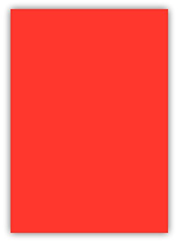 100 Blatt farbiges Premium Briefpapier Caribic Format DIN A3 ( 297 x 420 mm ) Farbe Briefbogen Zinnober Rot, Karibik Papier