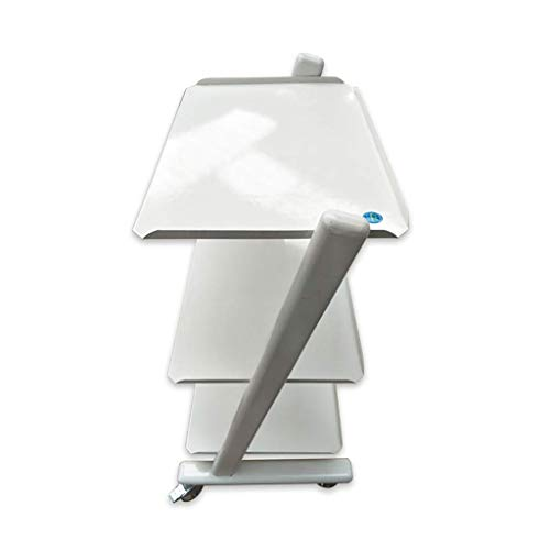 YAeele 3 capas de servicio Inicio de la carretilla de belleza Equipamiento cosmético herramienta dental Oral Carro Carro contenedor multifuncional (blanco, 960 * 560 * 400MM) Adecuado para el baño de