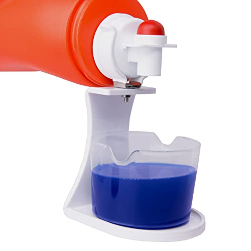 LEVOSHUA Laundry Detergent Cup Holder, Laundry Fabric Softener Soap Dispenser Drip Catcher, Firmly Clip on Laundry Bottle Spouts, Keep Washer, Dryer and Laundry Floor Clean and Organize, Pack of 1