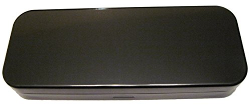Black, Tin, Eco-Friendly, Mini Pencil Box. Use As Pencil, Makeup, Jewelry, Gift, Candy, Favor or Birthday Gift Box