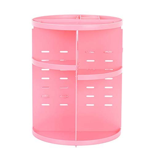Bggie Make-up-Organizer, drehbar, für Kosmetik, Hautpflegeprodukte, Aufbewahrungsbox, Schreibtisch-Halter rot