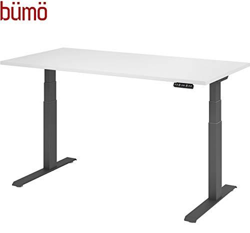 bümö® elektrisch höhenverstellbarer Schreibtisch DIY (ohne Tischplatte) in Graphit-Grau mit Memory-Funktion, Kollisionsschutz & Sanft-Start/Stopp