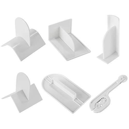 Soleebee 6-Teiliges Glätter für Fondant Kuchen Glätten Werkzeug Cutter mit Sharp Kantenschneider, Fondant Torten Werkzeuge Modellierwerkzeug Polierer für Torten Deko