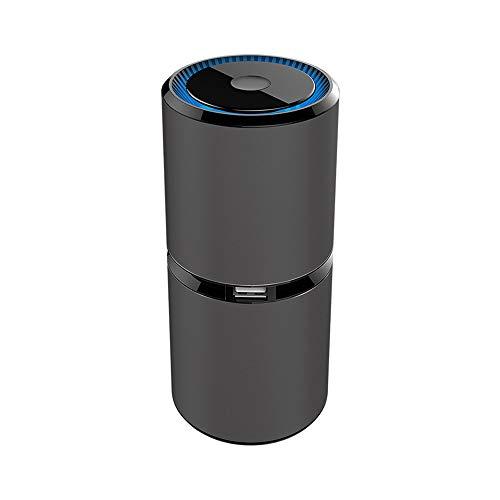 WETERS Purificador de Aire, Mini Coche portátil de Iones Negativos purificadores de Aire del USB del anión del purificador del Filtro de Aire Ambientador para el Coche Ministerio del Interior,Negro