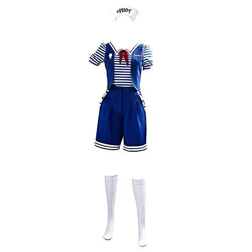 Stranger Things Robin Scoops Ahoy Costume Cosplay di Halloween per Adulti Set Completo Uniforme da Marinaio per Donna Uomo/Bambino
