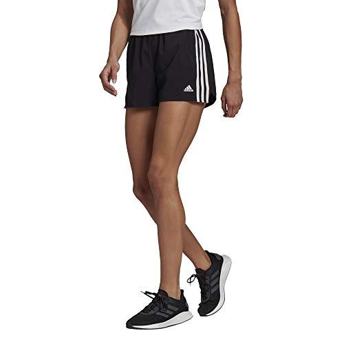 adidas,womens,3-Stripes Woven Shorts,Black/White,Small