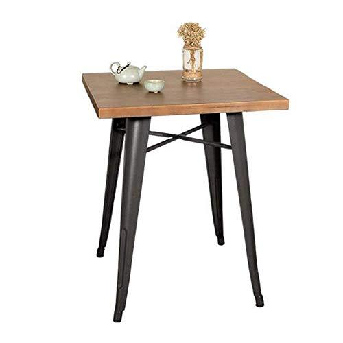 coffee table. Small round table. Small square tabl -Tables Vintage Kleiner quadratischer Tisch, westliches Restaurant / Bar / Esstisch / Freizeittisch, Kaffee- / Tee-Shop-Tische und -stühle, dicke 34t