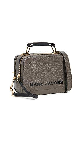 Marc Jacobs Mujer La Caja 20 Pebbled Bolsa De Cuero única Talla Gris