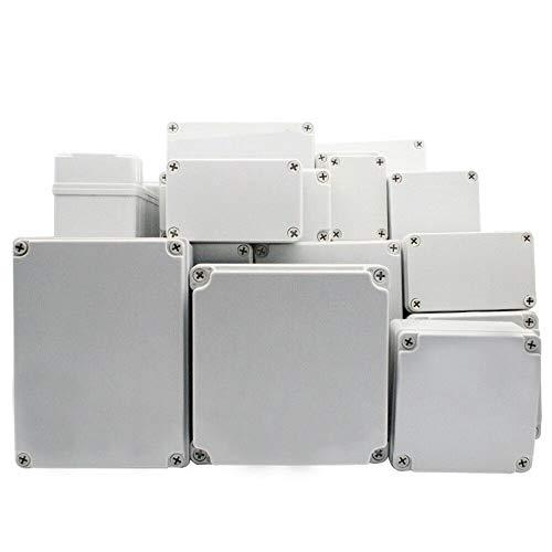 SUPERTOOL Caja de proyecto, cubierta de plástico ABS IP67, caja de conexiones electrónicas, caja de instrumentos impermeable, caja de bricolaje (1 pieza – 125 x 125 x 100 mm)