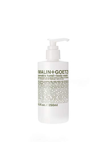 Malin + Goetz Cannabis Hand + Body Wash— natural cleansing, purifying and hydrating for women and men. for all skin types. no stripping or irritation. cruelty-free and vegan 8.5 Fl oz