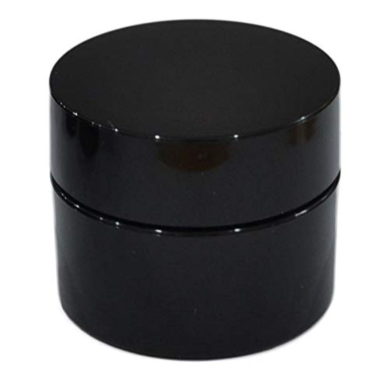 腐敗お客様懲戒純国産ネイルジェル用コンテナ 10g用GA10g 漏れ防止パッキン&ブラシプレート付容器 ジェルを無駄なく使える底面傾斜あり 遮光 黒 ブラック