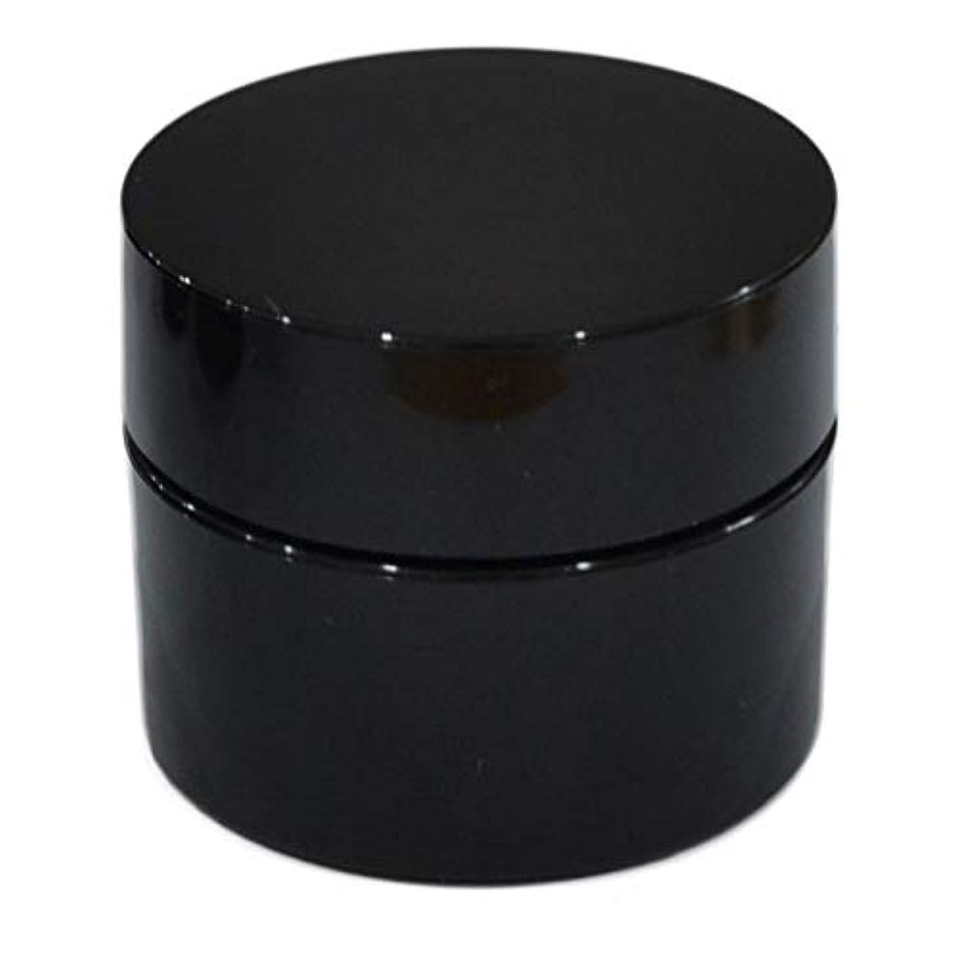 膜冊子テレマコス純国産ネイルジェル用コンテナ 10g用GA10g 漏れ防止パッキン&ブラシプレート付容器 ジェルを無駄なく使える底面傾斜あり 遮光 黒 ブラック
