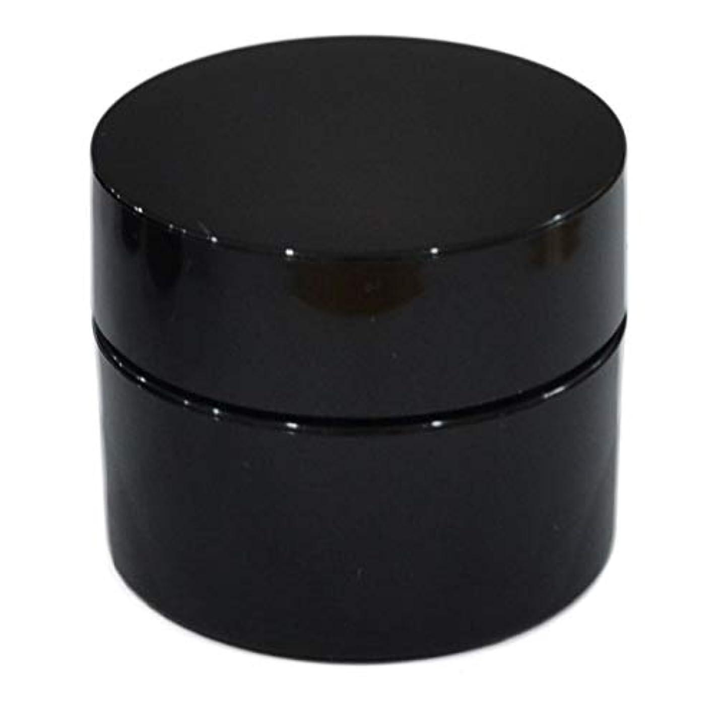 不十分なリビングルーム仕方純国産ネイルジェル用コンテナ 10g用GA10g 漏れ防止パッキン&ブラシプレート付容器 ジェルを無駄なく使える底面傾斜あり 遮光 黒 ブラック