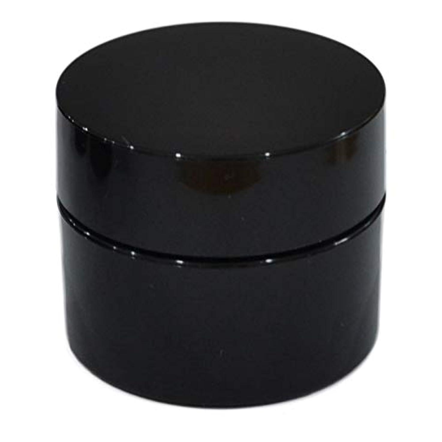 リングバック一人で理由純国産ネイルジェル用コンテナ 10g用GA10g 漏れ防止パッキン&ブラシプレート付容器 ジェルを無駄なく使える底面傾斜あり 遮光 黒 ブラック