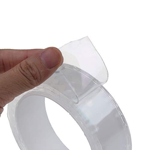 Tiantian 3 m x 3 cm x 1 mm doppelseitiges Nano Klebeband Autostreifen Aufkleber rückstandslos Klebeband Türkantenschutz Vinylfolie Türkantenschutz Nano Tape