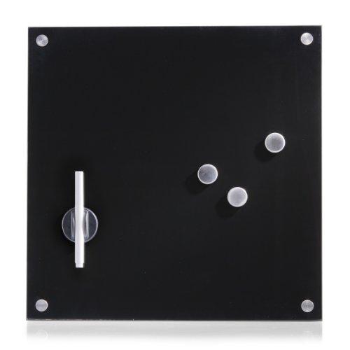 Zeller 11602 Memobord, Glas, schwarz, ca. 40 x 40 cm