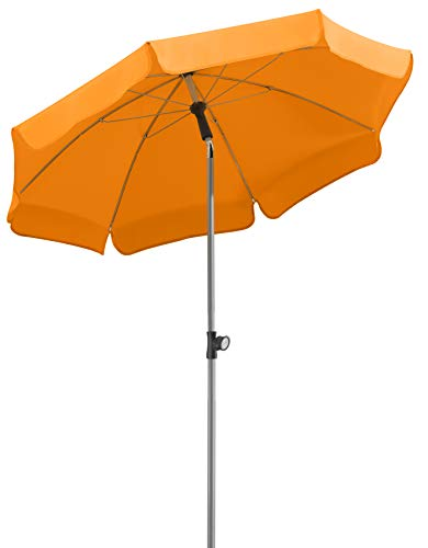 Schneider Parasol Locarno, Mandarina, Aprox. 150 cm Ø, 8 Piezas, Redondo