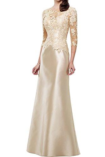 La_Marie Braut Langes Etuikleider Abendkleider Jugendweihe Kleider mit Champagner Meerjungfrau Ballkleider Neu-46 Champagner