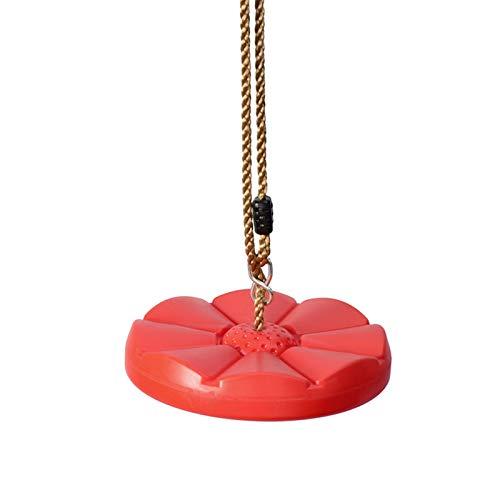WLQWER Cuerda De Escalada para Niños, Columpio para Bebés Al Aire Libre con La Plataforma De La Plataforma De La Plataforma Y El Disco del Soporte del Disco Escalera De Cuerda,Rojo