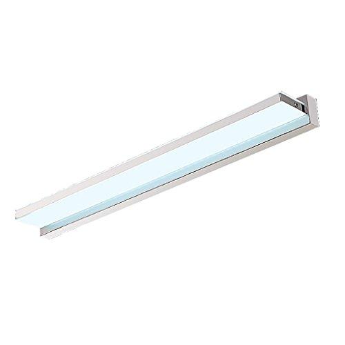 Lámpara LED espejo de luz frontal Espejo gabinete luces baño de baño Espejo de luz Humedad impermeable Simple Energy saving Maquillaje luces Luces de baño (Color : White light)