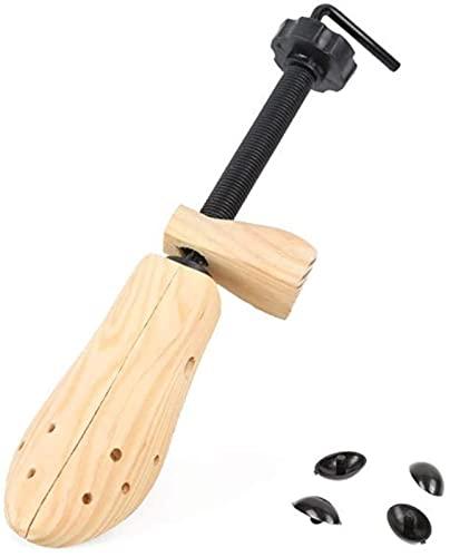 Soporte ajustable para zapatos de madera, extensor de zapatos de madera, ensanchador de zapatos de alta calidad, profesional de 2 vías, para mujeres y hombres, 1 paquete