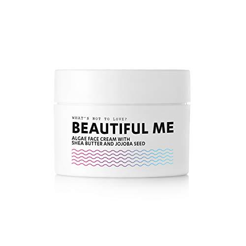 Salted. Beautiful Me - Crema facial de algas veganas con manteca de karité y aceite de jojoba, fabricada en Alemania (50 ml)