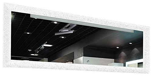 GaviaStore – Julie Bianco 140x50 cm - Specchio moderno da parete (18 formati e colori) lungo figura intera alto grande decor soggiorno modern sala paret camera bagno ingresso