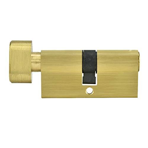 01 Cilindro de Cerradura de Cobre, Cilindro de Cerradura con Llaves, Uso Profesional práctico y Resistente para la Familia de Uso General de Oficina