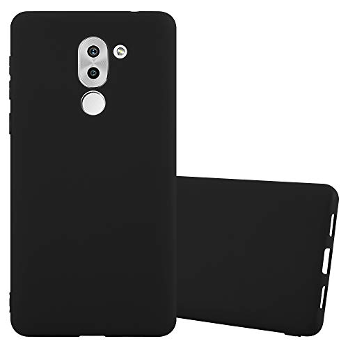 Cadorabo Hülle für Honor 6X - Hülle in Candy SCHWARZ – Handyhülle aus TPU Silikon im Candy Design - Silikonhülle Schutzhülle Ultra Slim Soft Back Cover Case Bumper