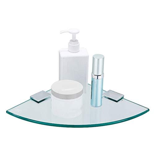 Corner-geheugenhouder glazen plank badkamer driehoek douchebak drilling badkuip plank met stelvoet 7~12 inch 01-30