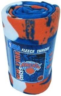 Northwest Fleece Throw Blanket Featuring NBA Team Logo in Hard Knocks Design - New York Knicks