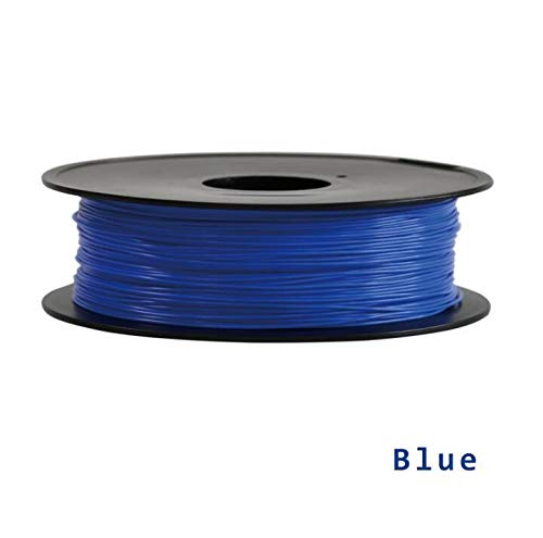 without DZF-BGS 8 Color Option 3D Printer Filament 1KG/roll PLA Filament/ABS Filament 1.75mm Plastic Consumables Material 3D printer n 3D pen (Color : Blue)