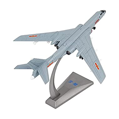 Yiju 1/144 Die Cast Alloy Airplane Toy Set Metal Themed Fighter 6K Bomber Aircraft for Kids Toy Set Collection