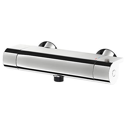VALLAMOSSE - Mezclador termostático para ducha (26,5 x 10 cm, cromado)